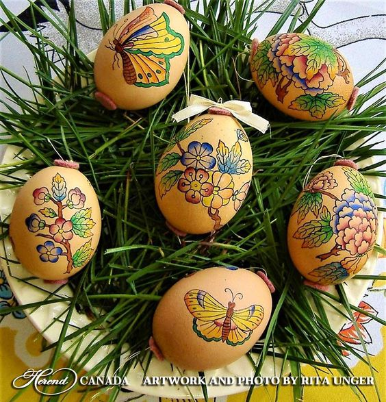 Vintage Style Egg Decor