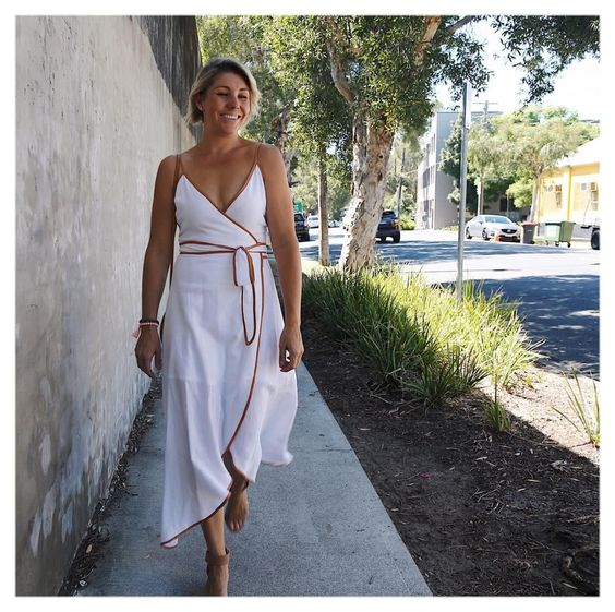 White Wrap Dress Looks Fabulous