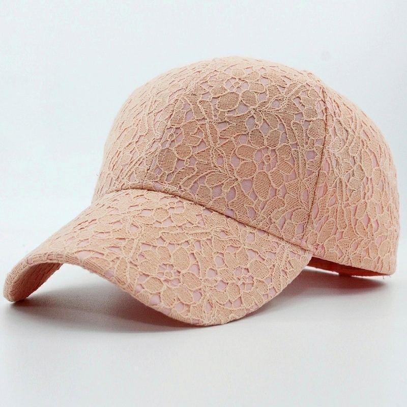 Adjustable Lace Cotton Baseball Snapback Hip Hop Fashion Female Caps
