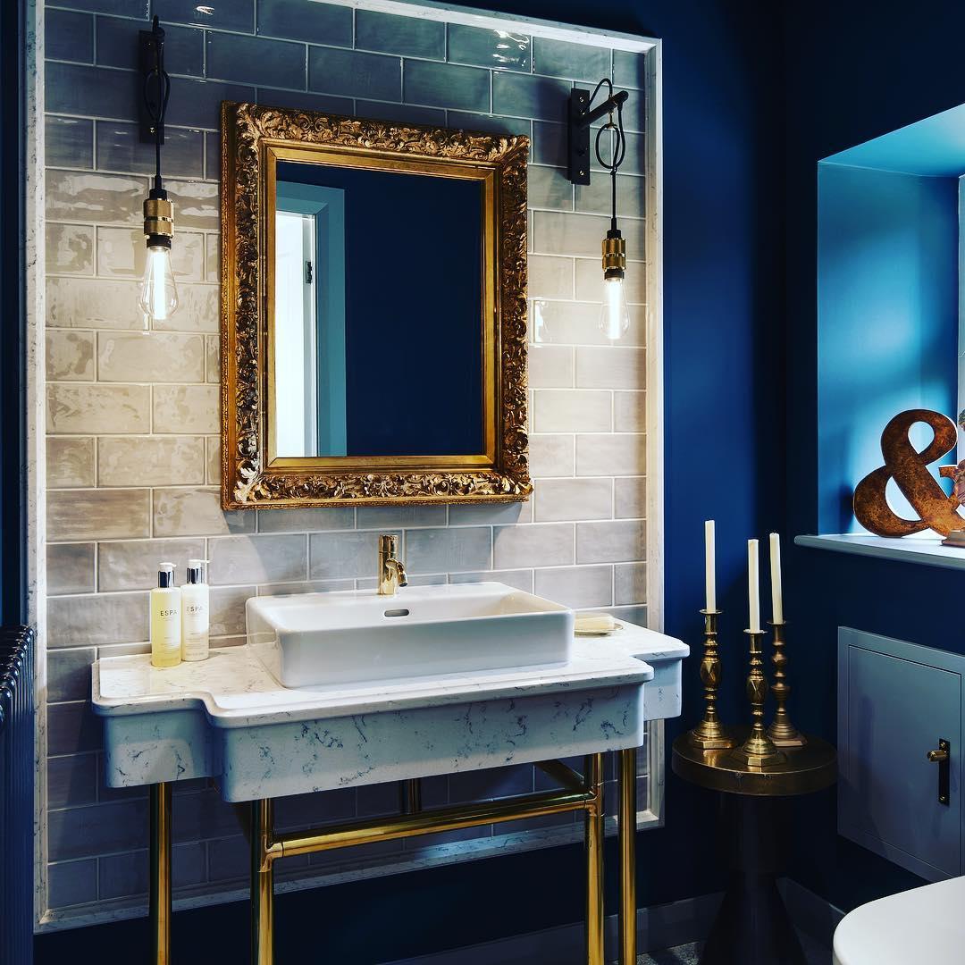 Artistically Designed Brass Frame Mirror
