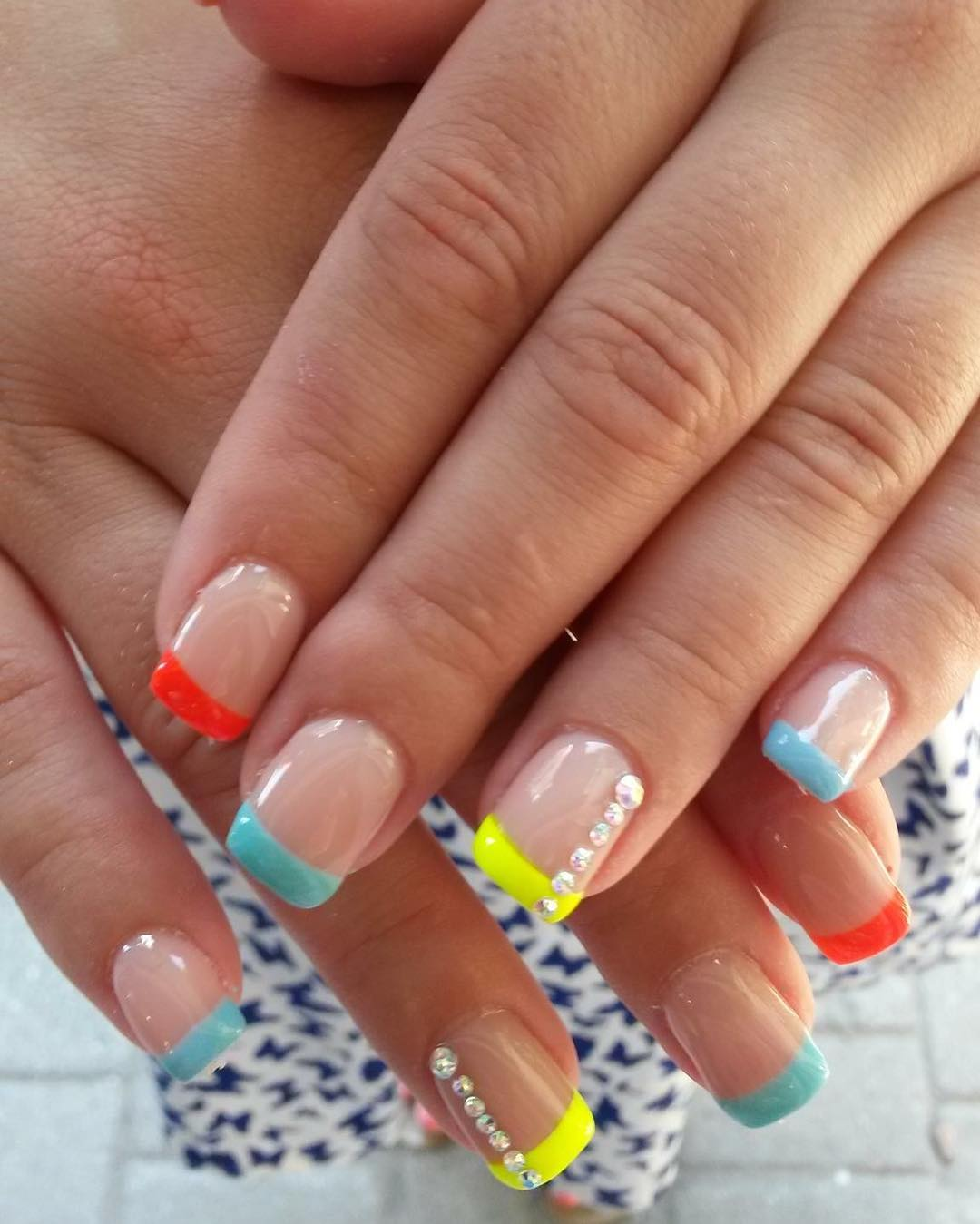 Awesome Colorful French Tips