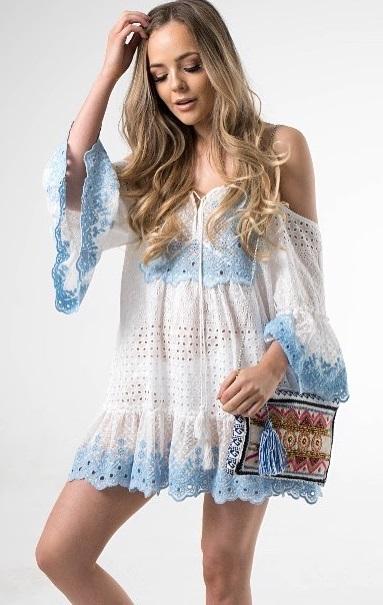Blissful Cold Shoulder Dress