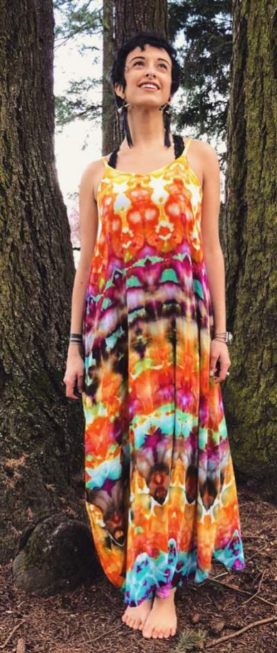 Breezy Colorful Rayon Maxi Dress