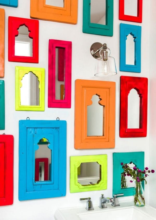 Colorful Small Mirrors