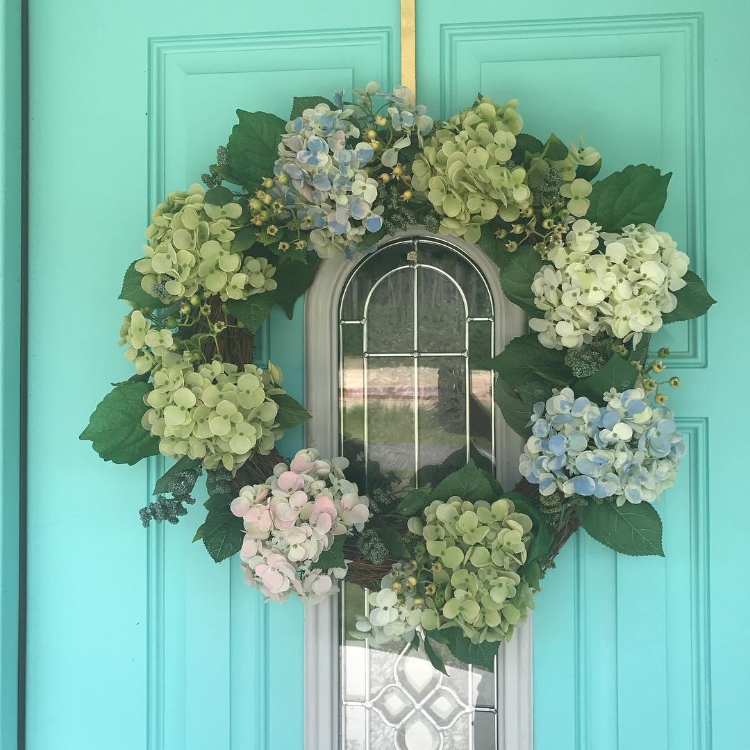 Fresh Leaves Wreath For Front Door Decor