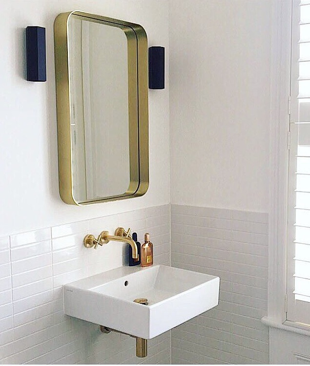 Golden Frame Mirror For Classic Touch