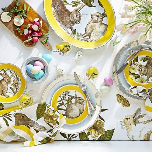 Printable Rabbit Plates Table Decor Idea