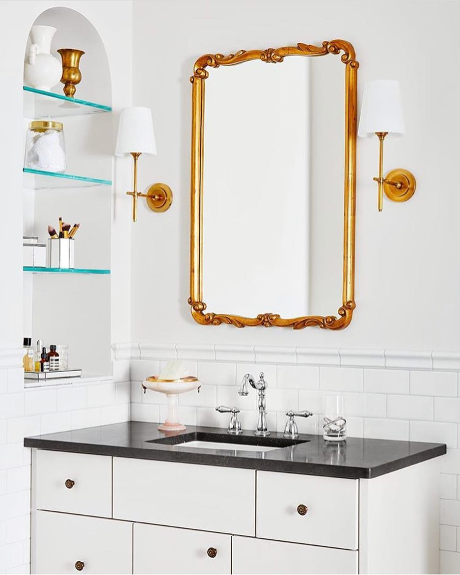 Royal Golden Mirror For Your Bathroom