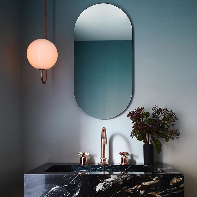 Slender And Long Mirror With Rounded Corners