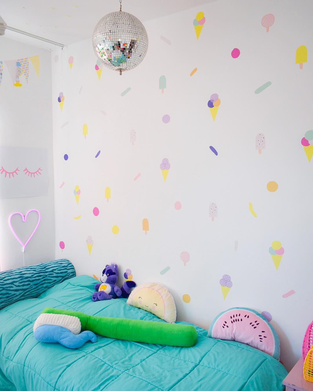 Swanky Summer Pop Wallpaper Stickers For Kids Room