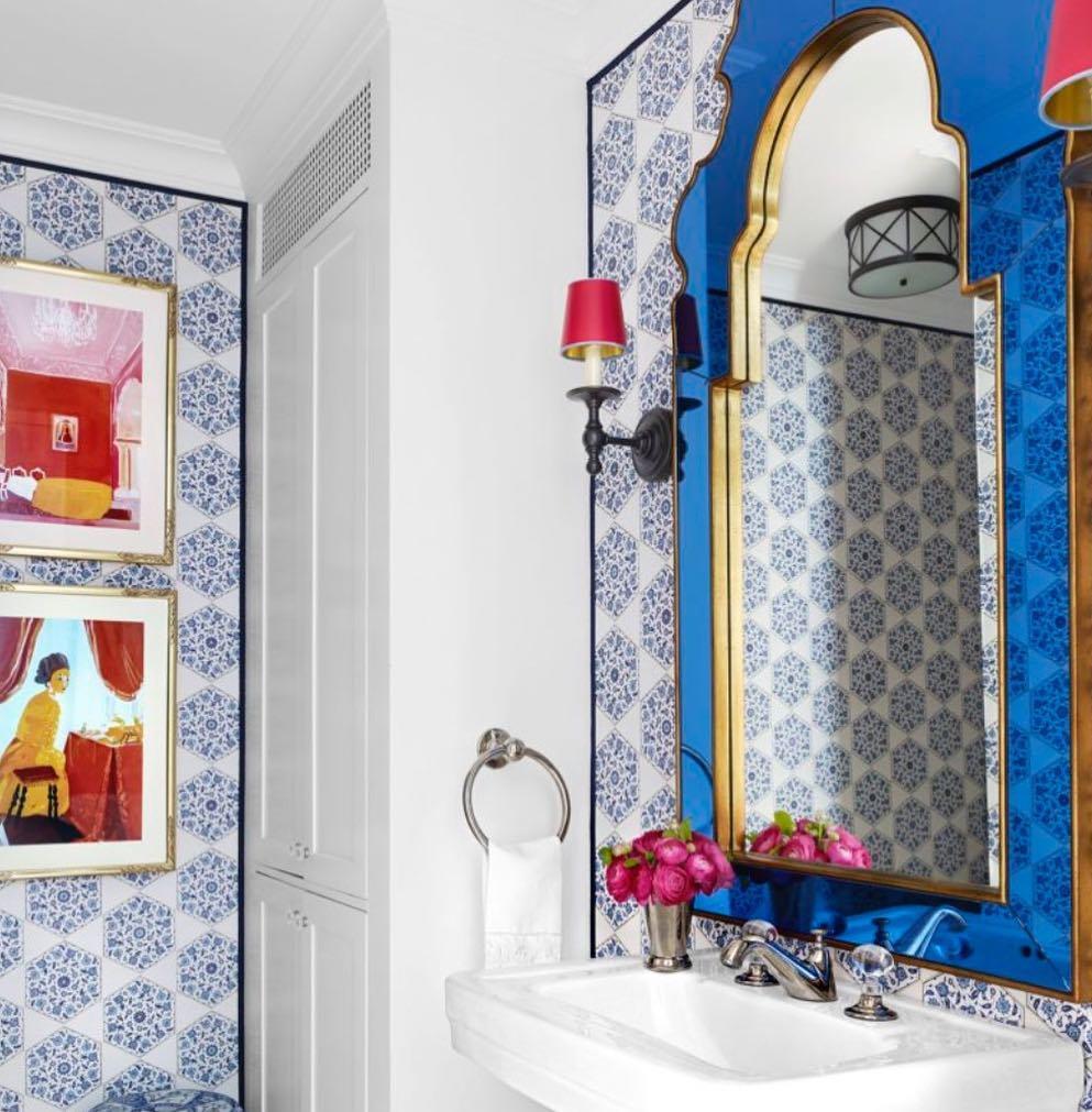 Vibrant Blue Mirror