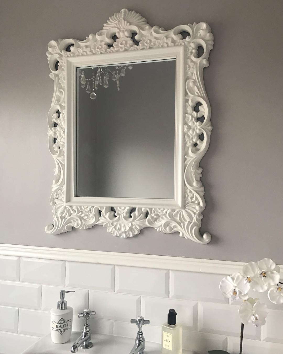 Victorian Style Mirror For Luxury Bathroom