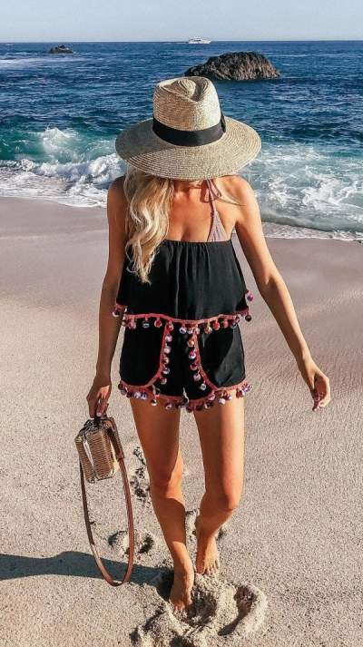 Adorable Pom-Pom Romper And Hat