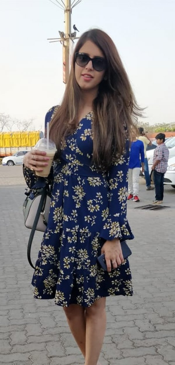 Alluring Floral Dress With Sunglasses For Warm Days
