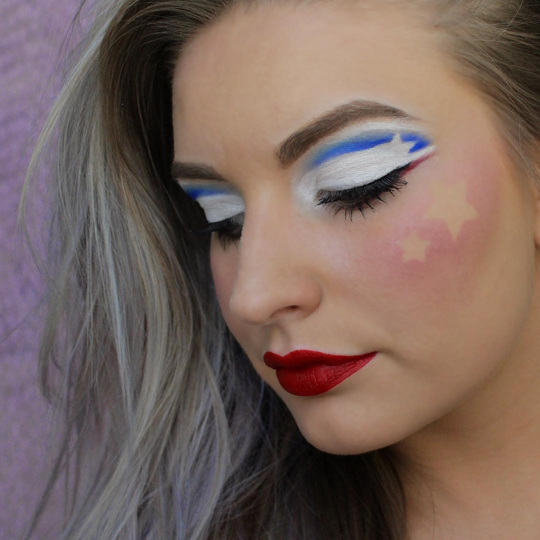 American Independence Day Makeup