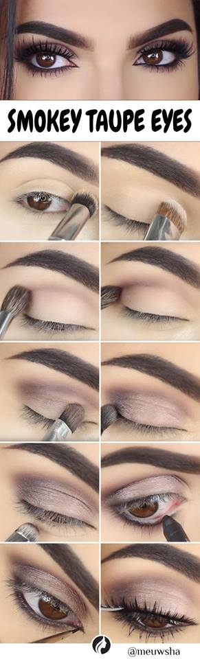 Awesome Smokey Taupe Eye Makeup Tutorial