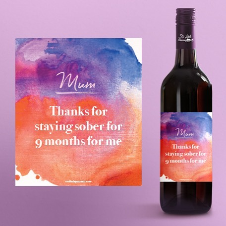 Awesome Wine Label For This Mother's Day