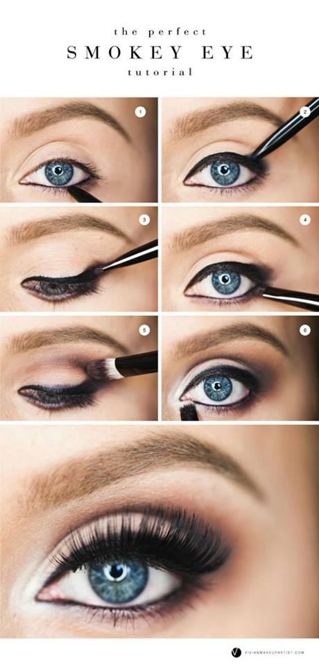 Best Smokey Eye Makeup Tutorial For Blue Eyes