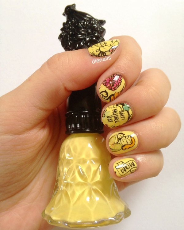 Best Yellow Mothers Day Nail Art