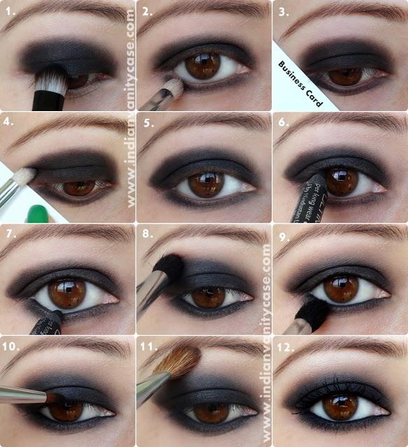 Black Smokey Eyemakeup Tutorial