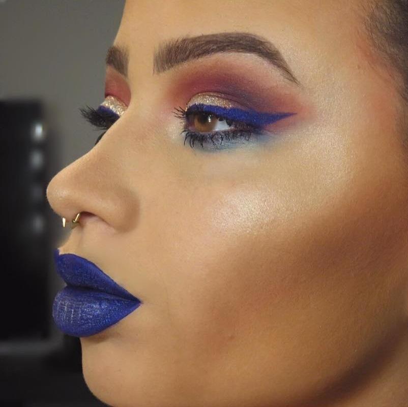 Blue Lips Looks Adorable