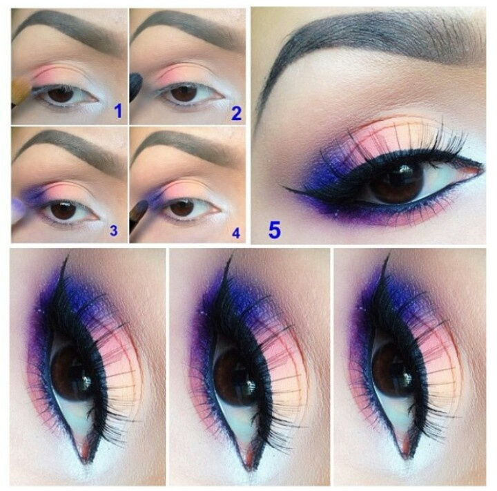 Charismatic Rainbow Look Smokey Eye Makeup Tutorial