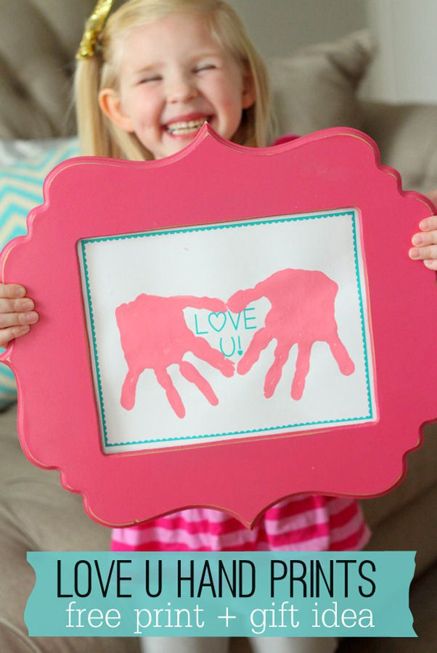Chic Love You Hand Print Painting