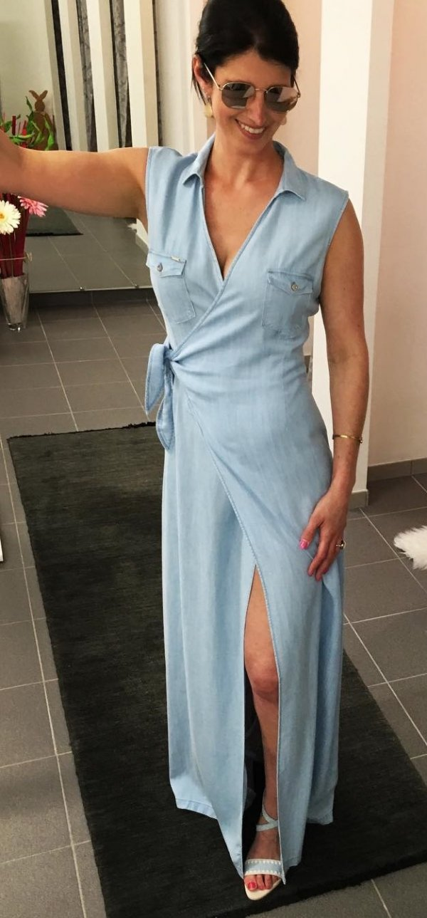 Classic Long Wrap Dress