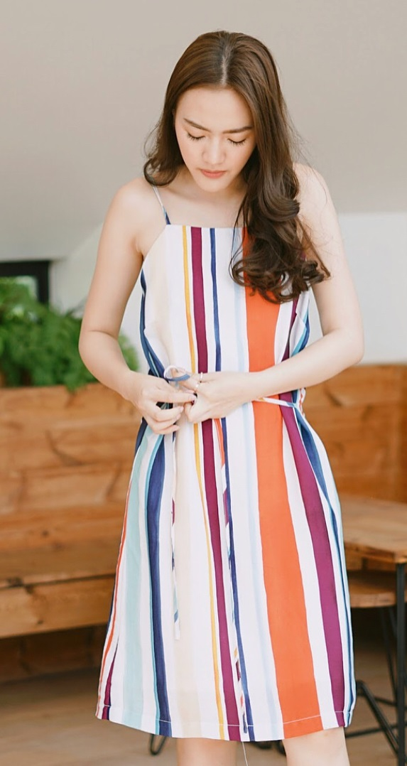 Colorful Stripes Dress