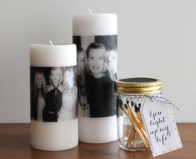 Decorated Candle For Mom