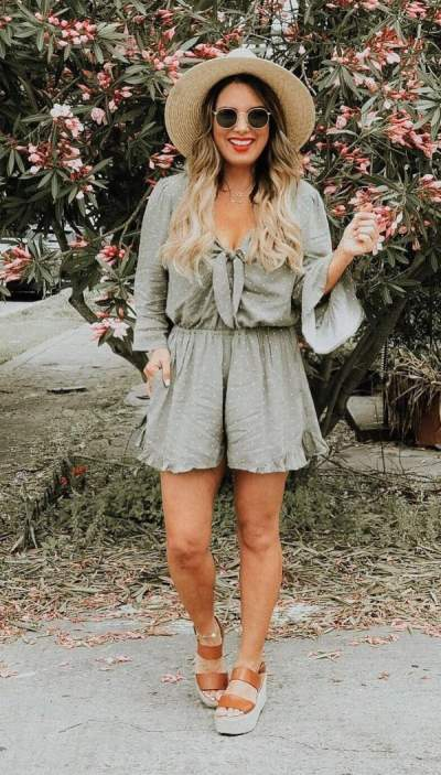 Exclusive Romper, Hat, Sunglasses With Summer Sandals