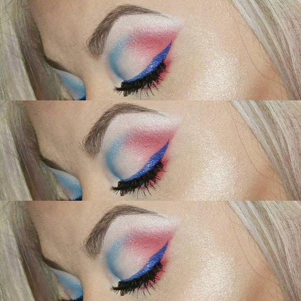 Fabulous Eye Makeup With Blue Eyeliner