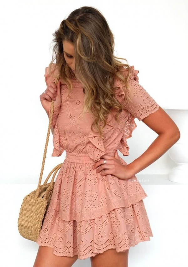 Fantastic Lace Dress With Bag