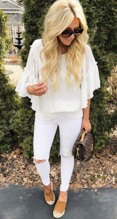 Fashionable White Outfit