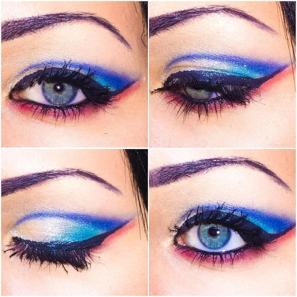 Fourth Of July Eye Makeup