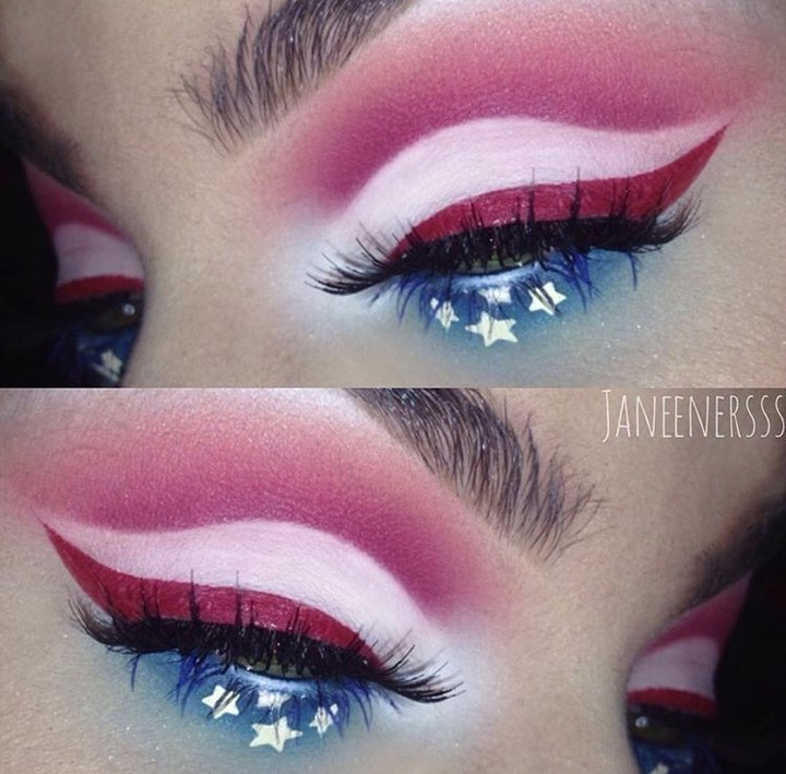 Gorgeous Fourth Of July Makeup Idea