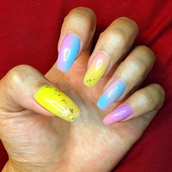 Impressive Colorful Summer Nails