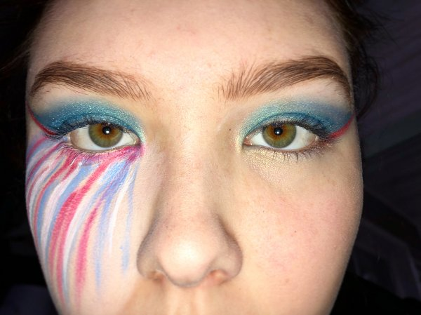 Marvelous American Flag Makeup