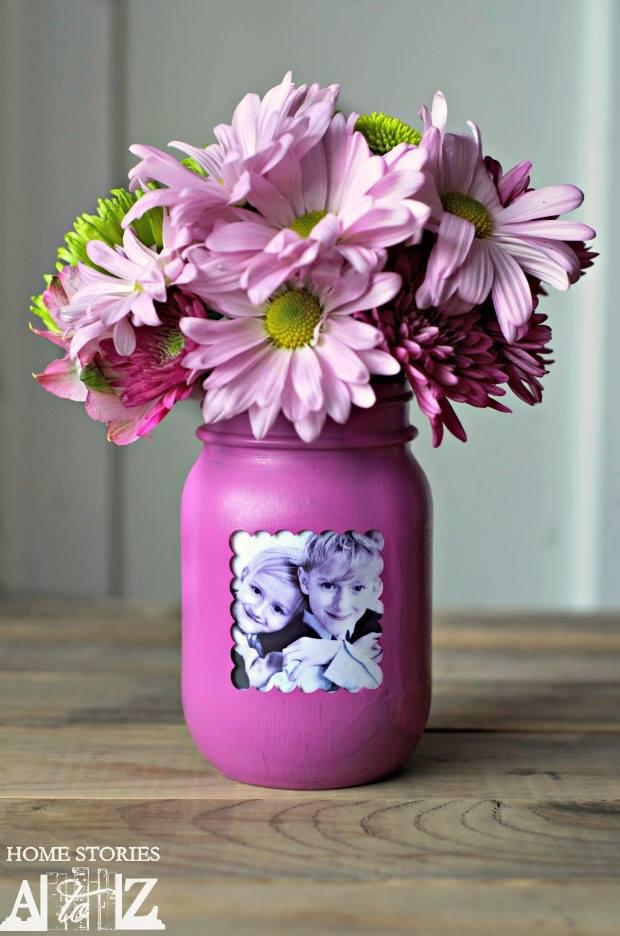 Mason Jar As A Vase