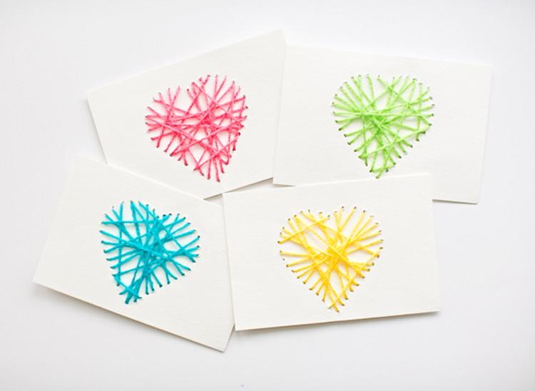 Nice String Yarn Cards