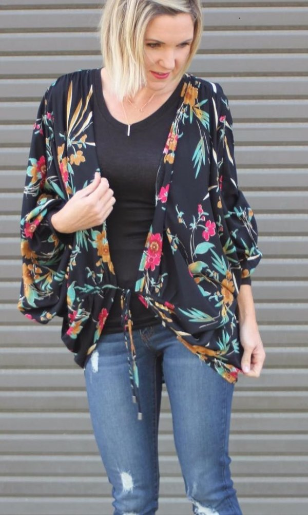 Sassy Floral With Denim