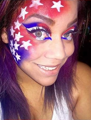 Star Painted On Face