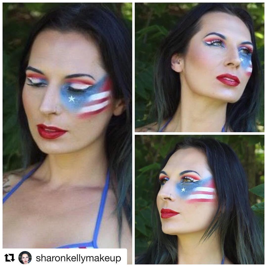 Superb American Flag Makeup