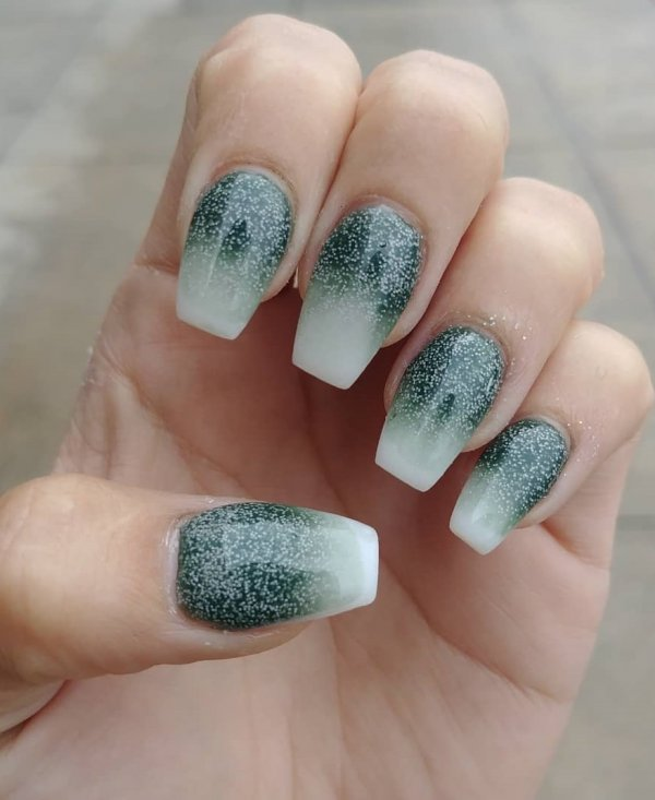 Swanky Ombre Nails
