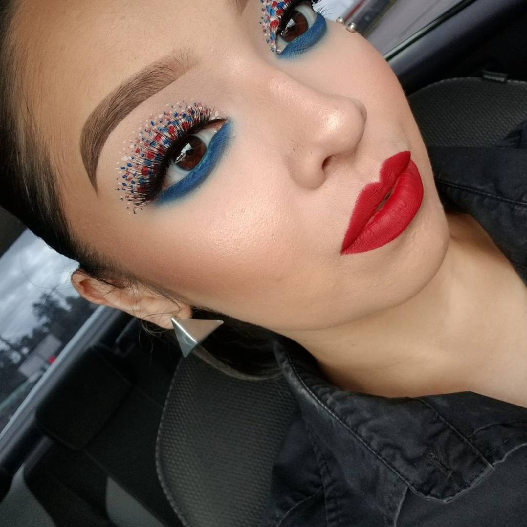 Trendy Eye Makeup Fourth Of July
