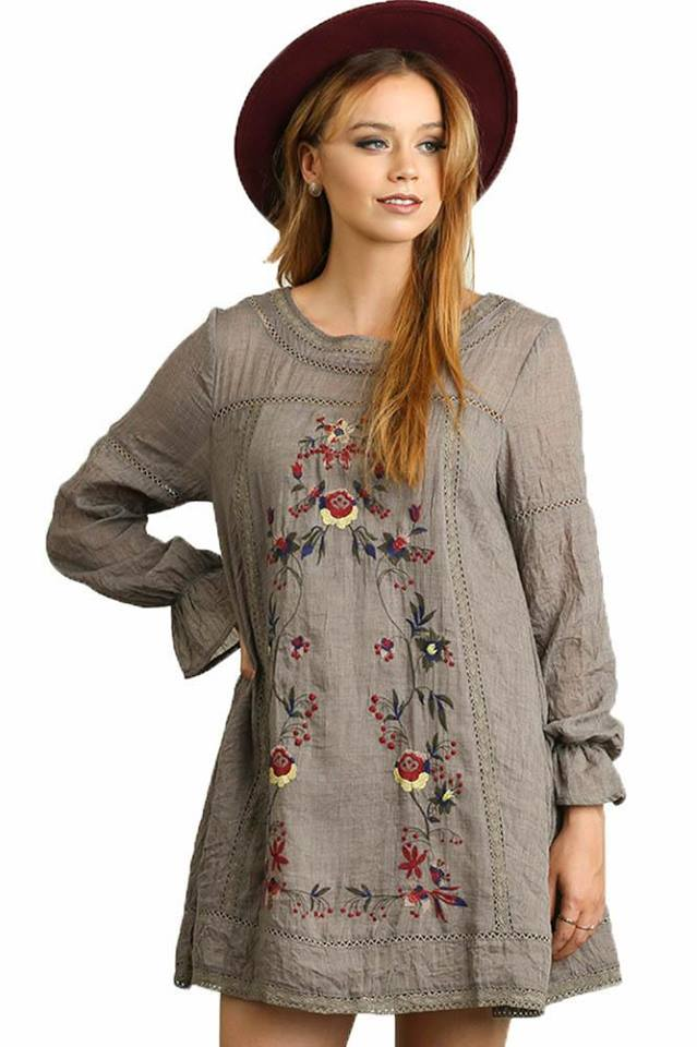 Tunic With Boho Embroidery