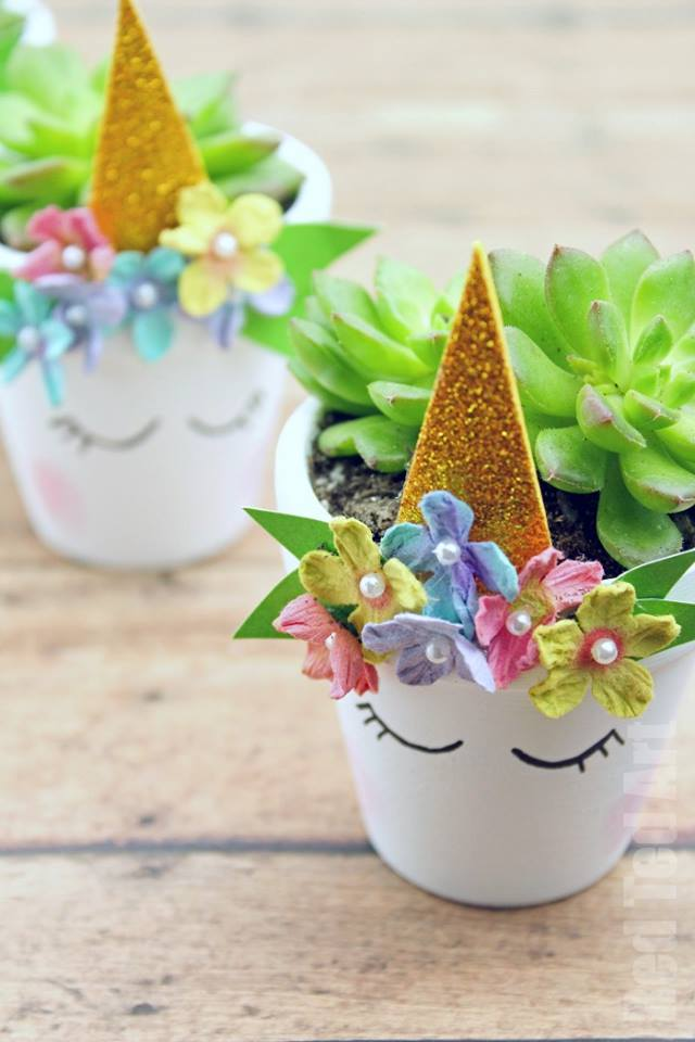 Unicorn Succulent Planters For Mom