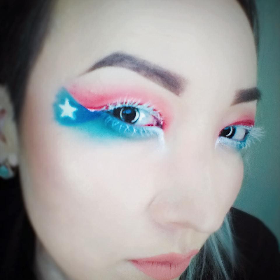 Unique Eye Makeup With White Mascara