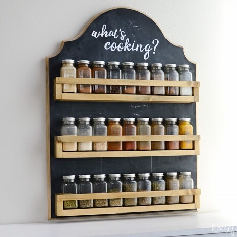 Wall Spice Rack Used To Save Counter And Cabinet Space