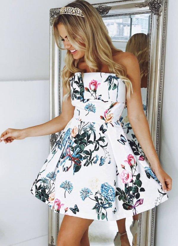 White Off Shoulder Petals Dress